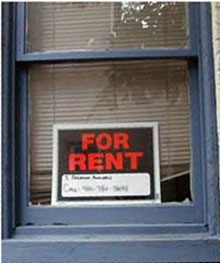 photo of For Rent sign