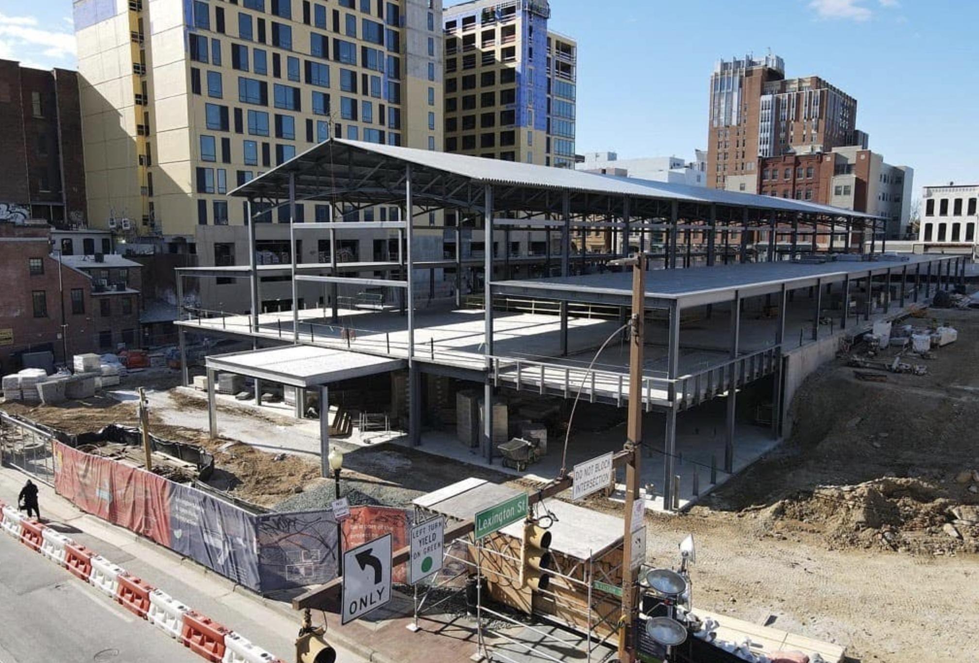Photo of Lexington Market under construction